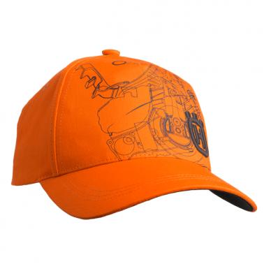 """Husqvarna oranžinės spalvos """"Xplorer"""" kepurė su pjūklo atvaizdu"""